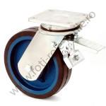 Rola pivotanta frana cu cauciuc elastic 550-800 kg