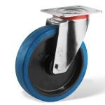 Rola pivotanta cu cauciuc elastic (L)